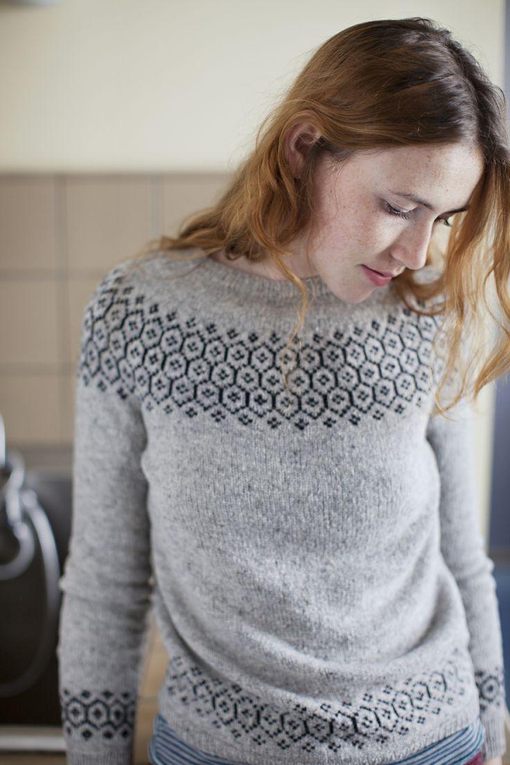 Colourwork yoke pullover