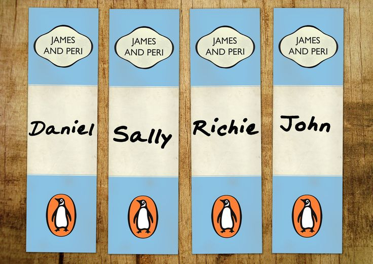 Penguin Place Cards | Wedding Stationery Wales
