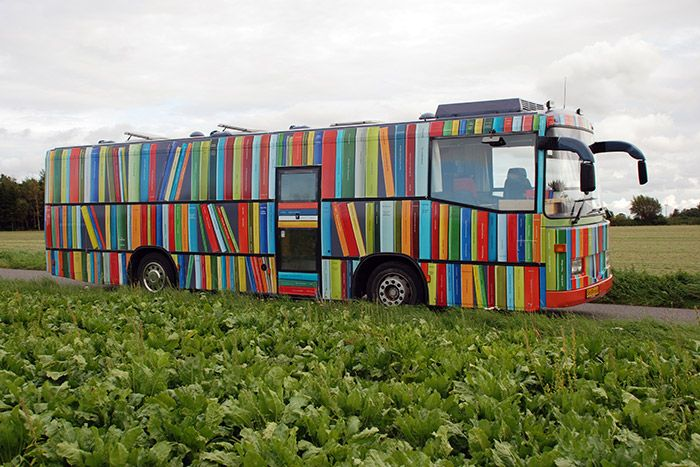 Peter Callesen: Librarybus, commission work for the Danish Art Council in collaboration with the Borough of Guldborgsund, at Falster in the southern part of Denmark.