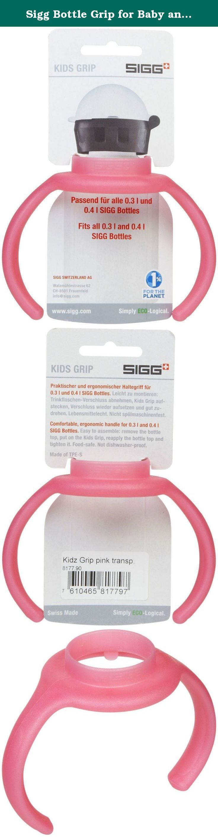 Sigg Bottle Grip for Baby and Kids Water Bottles (0.3/0.4-Liters, Kids Grip Pink). Kids Bottle Grip - Pink The kids' grips help your toddler drink from the bottle so your kid can carry and drink from his/her own SIGG bottle independently. .