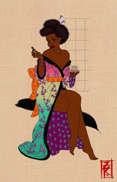 Kelly's Dolls, Kimono Girl for Japafronese Art Show@ West End...