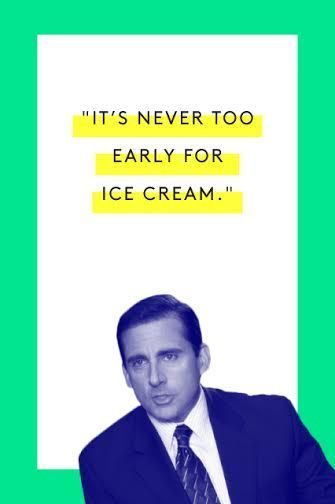 The Tao Of Michael Scott #refinery29  http://www.refinery29.com/2015/03/83753/michael-scott-office-quotes#slide-3  Never. Watch here