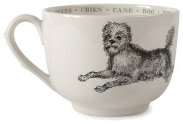 Dog Fauna Grand Cups, Set of 4 - transitional - Mugs - Step. & Lizzie