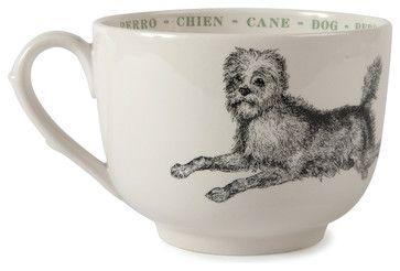 Dog Fauna Grand Cups, Set of 4 - transitional - Mugs - Step. & Lizzie