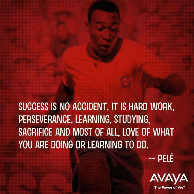 Live as if success is your only love... It takes a lot of motivation to be happily content with our success  Pele Quote Weekend Motivation Winner