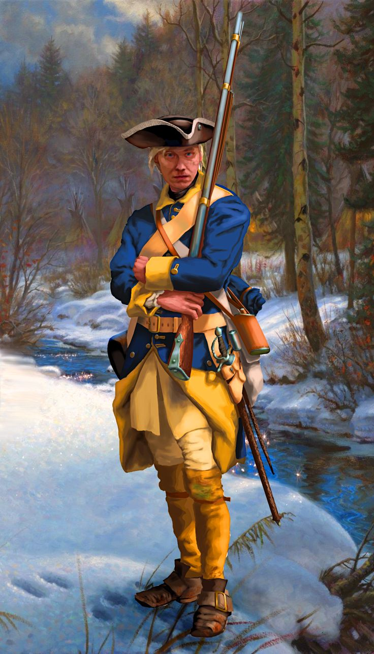 A Swedish infantry on sentry duty, Great Northern War