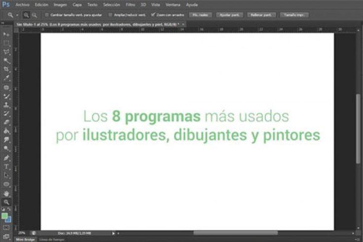 Los 8 programas mas usados por ilustradores, dibujantes y pintores #programa #ilustracion #diseño #dibujo #dibujar #ilustrar #diseñar #pintar