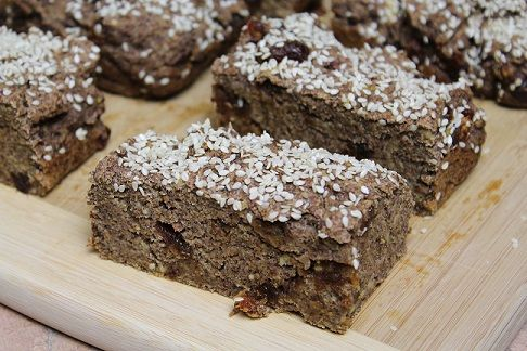 vegan wholemeal banana bread meal replacement bars.