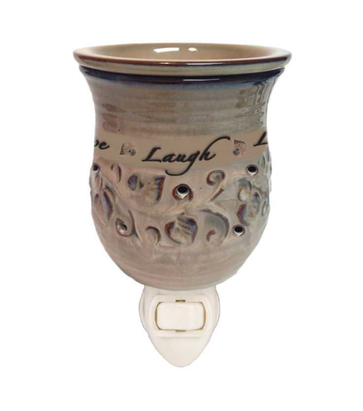 LIVE LAUGH LOVE Ceramic Plug-In Fragrance Wax Warmer Home Office Gift Flame-Free