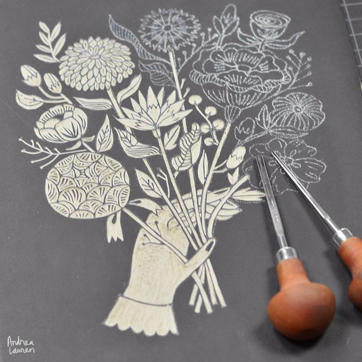 Best printmaking linocuts images on pinterest block
