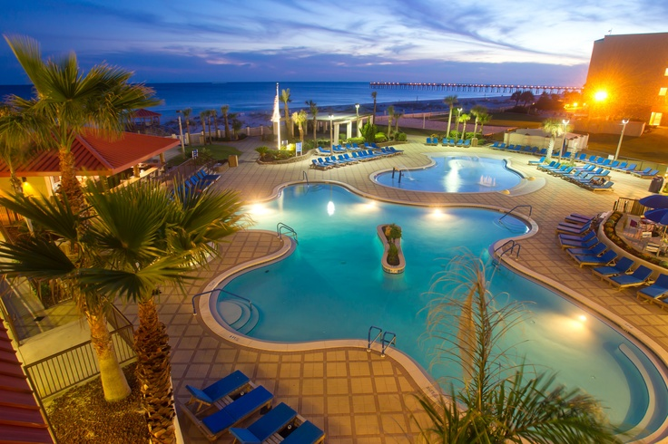The Hilton Gulf Front Hotel Is Located Beachfront In Center Of Everything On Pensacola Beach Florida