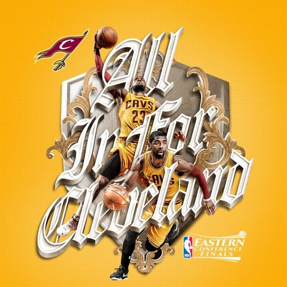 LeBron James x Kyrie Irving \u0027All In For Cleveland\u0027 Art
