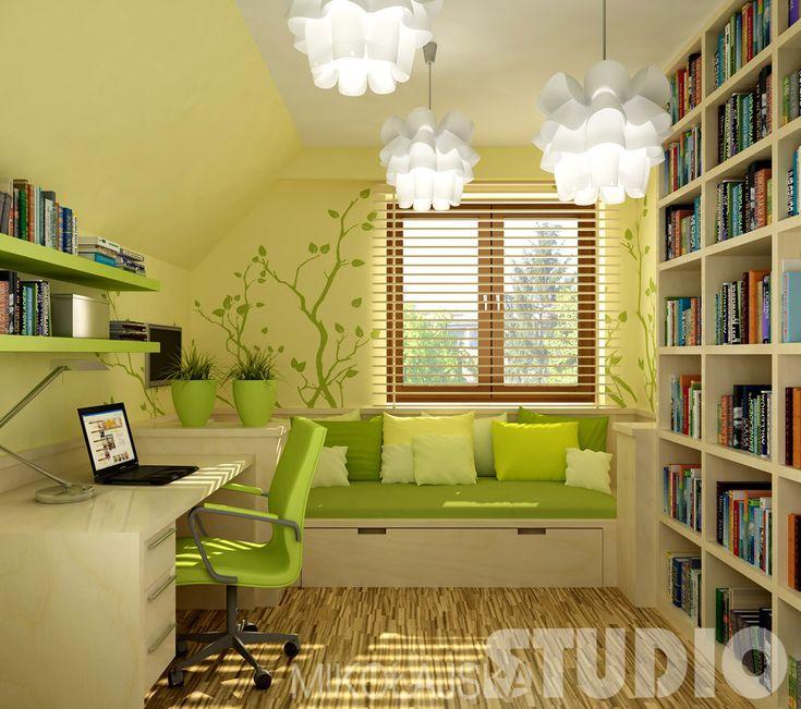 Pokój w zieleniach
