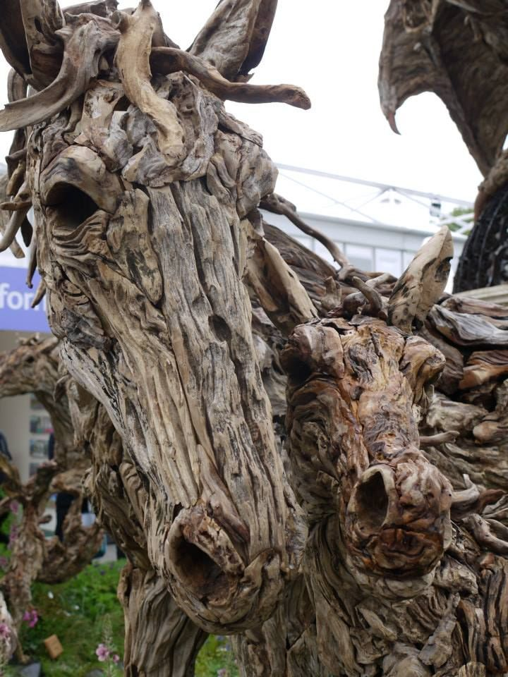 Stunning mare and foal made of driftwood photo from for How to work with driftwood