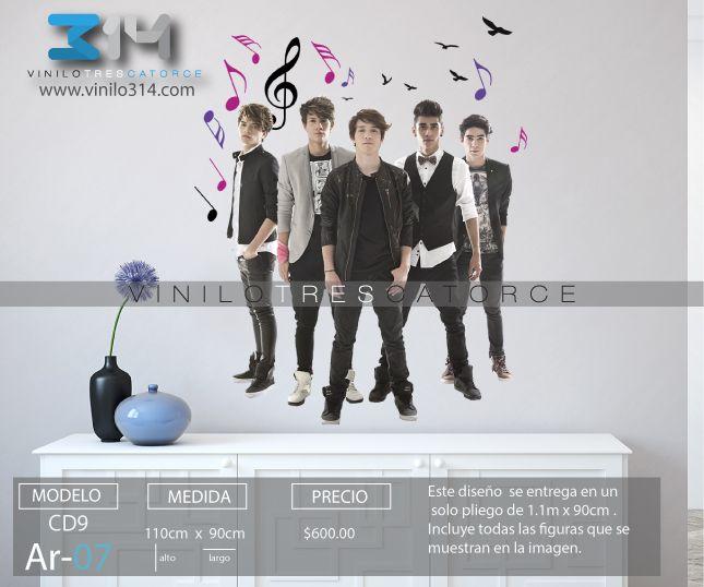 Vinilo 3 14 vinilos decorativos artistas cd9 grupo for Vinilos decorativos grupos musicales