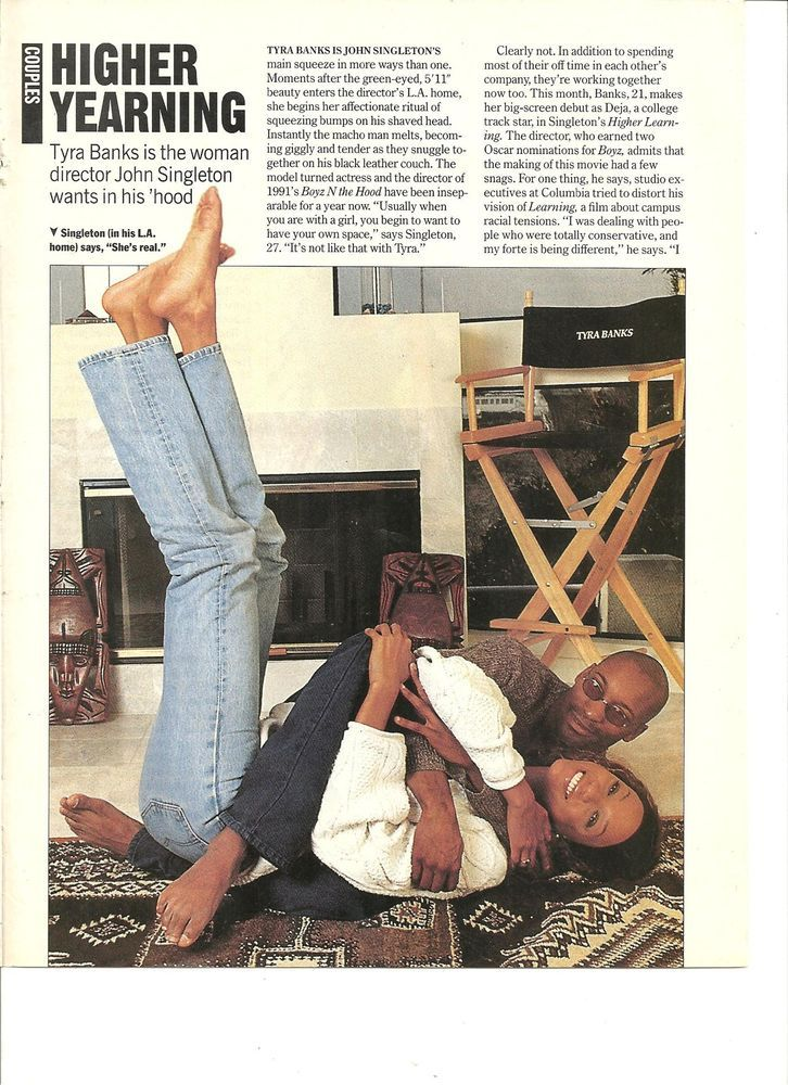 Tyra Banks, Full Page Clipping Pinup, Bare Feet