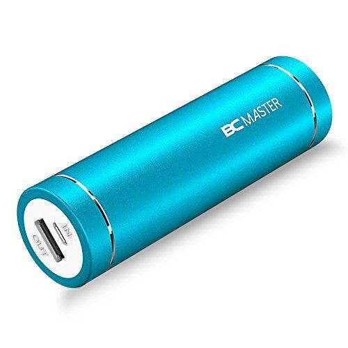 BC Master 5000mAh en Format Lipstick Mini Batterie Externe (5V/2A) Chargeur Portable de Secours avec LED pour IPhone, Samsung, HTC, Huawei,…