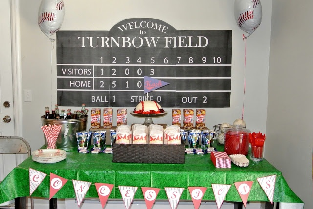 Team Turnbow: baseball themed party