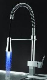 Sumerain S6046CL Modern Contemporary LED Kitchen Faucet Chrome