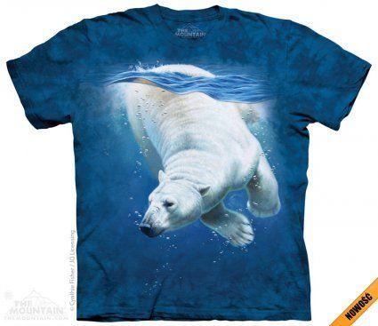Polar Bear Dive - The Mountain - koszulka z niedźwiedziem polarnym - koszulki z nadrukami zwierząt - www.veoveo.pl