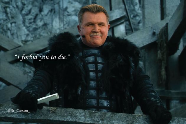 Mike Ditka—Lord Mormont