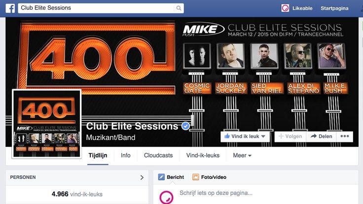 """Twitter @LikeableDesign"""" """"#Facebook-pagina van #ClubEliteSessions is klaar voor #CES400 morgen! http://www.facebook.com/ClubEliteSessions #artwork #LikeableDesign"""""""