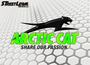 2 Arctic Cat Pounce Stickers