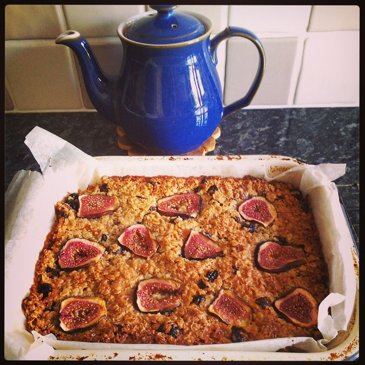 Fig flapjacks the recipe is from Nigel Slater