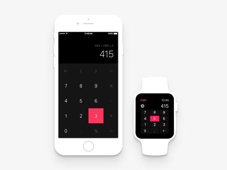 Calc App Crossplatform by Ilja Miskov for Peppers