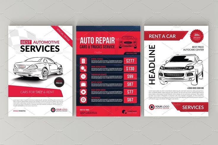10 Auto Repair Services Flyer Bundle Repair#Bundle#Auto #affiliate