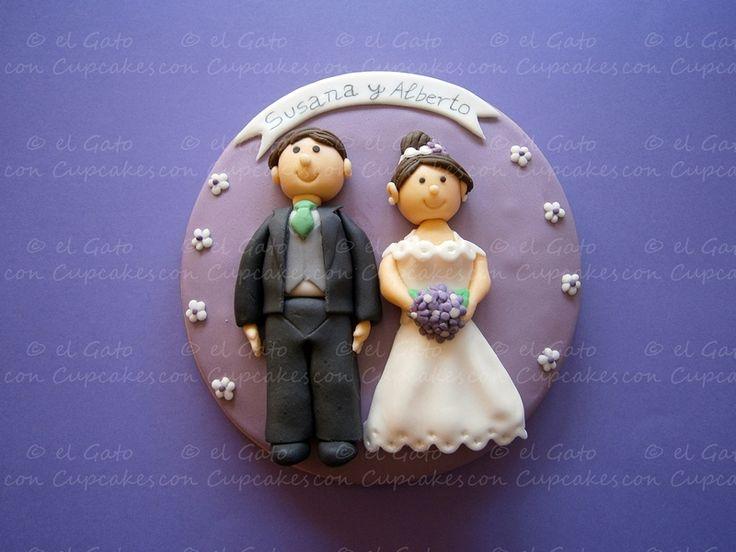 Galleta grande boda / Wedding cookie