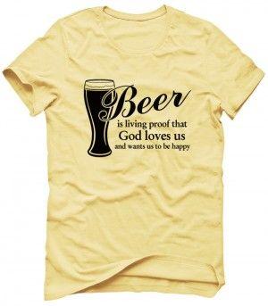 BEER GOD Koszulka Tshirt Bluza Męska Damska