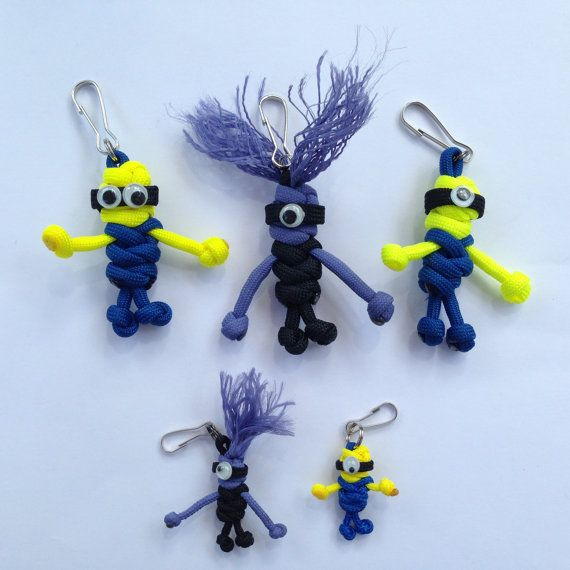 Paracord Minions  Geocaching Swag by CoolGeocachingSwag on Etsy