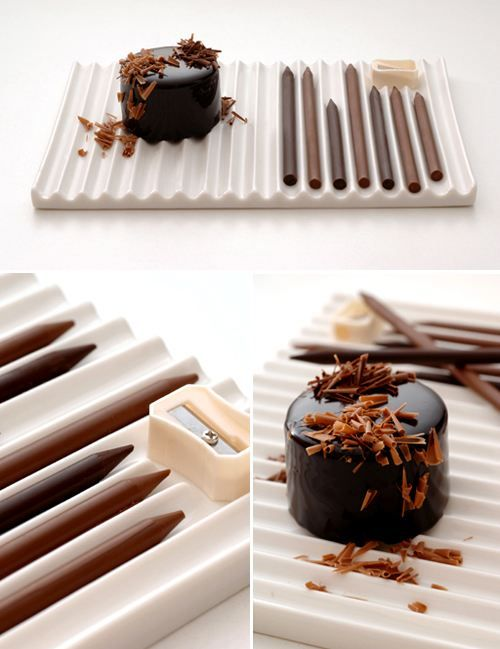 chocolate pencils for dessert topping