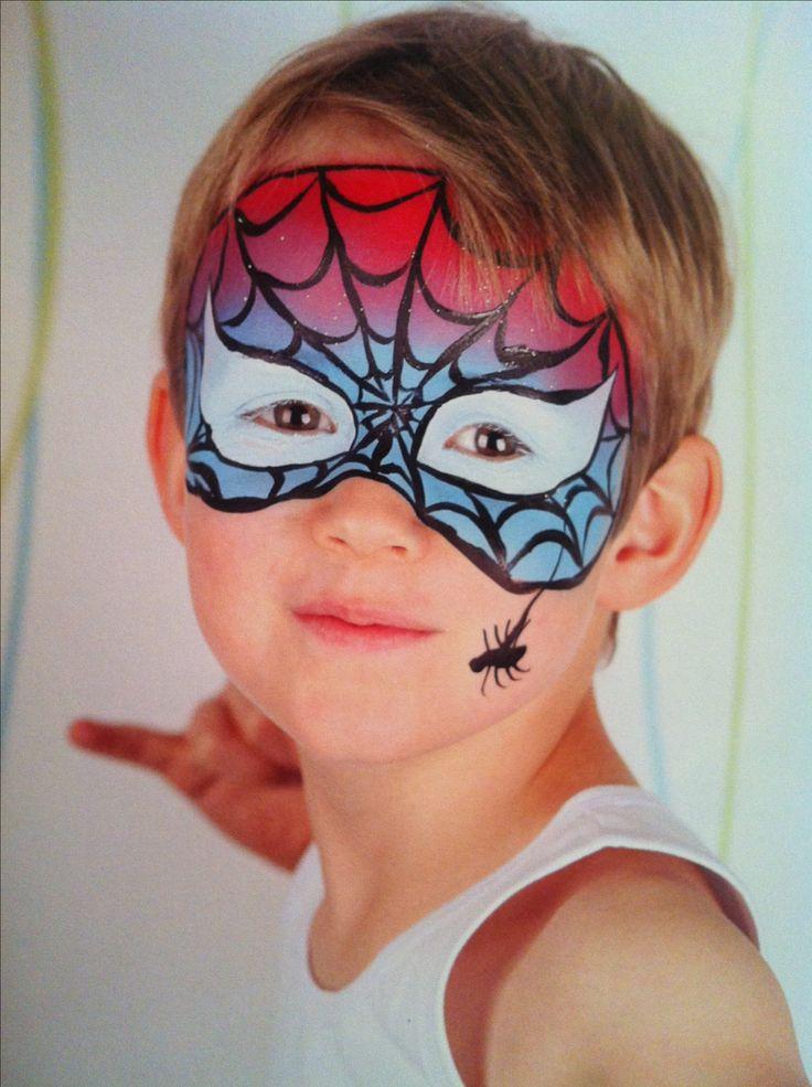best 25 spider man face paint ideas on pinterest gesicht schminken spiderman face painting. Black Bedroom Furniture Sets. Home Design Ideas