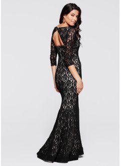Vestito nero in pizzo lungo