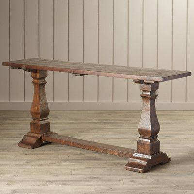 august grove gena console table gets free shipping to your business from wayfair supply great