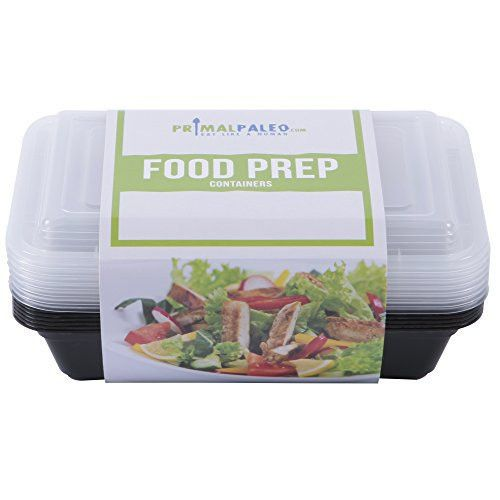 7 Pack - Food Prep Containers (1 Compartment) - Take Healthy & Delicious Lunches To Work All Week
