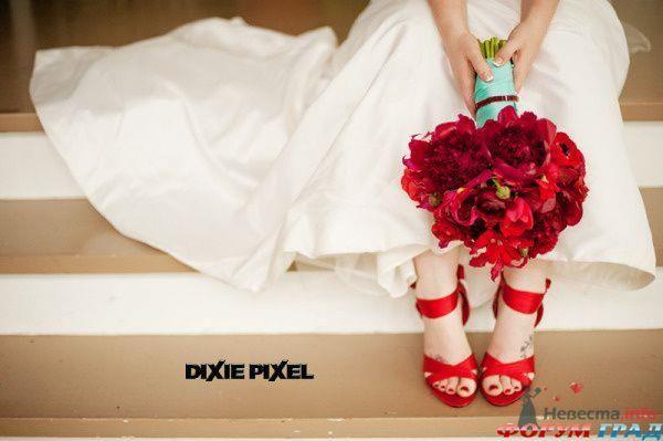 Туфли свадебные красные