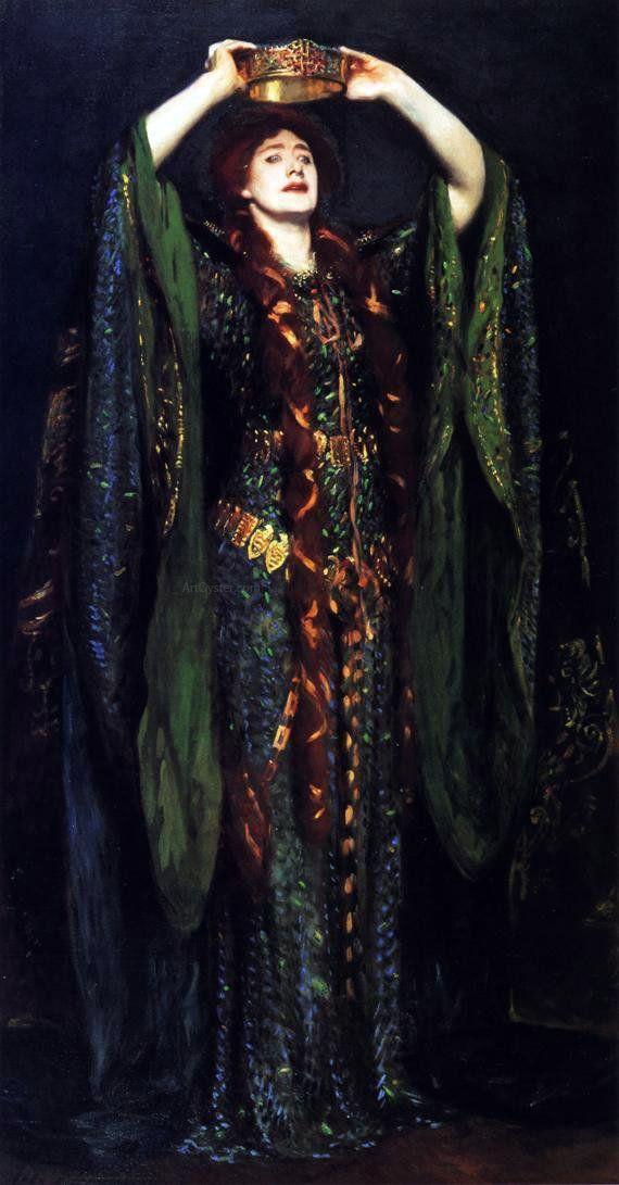 Ellen Terry as Lady Macbeth by John Singer Sargent – Canvas Art Print