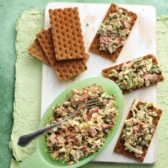 Frisse tonijnsalade met bieslook
