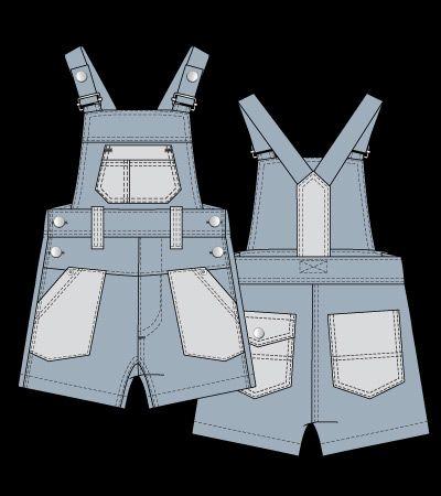Fashion flat | Kidsfashionvector | cute vector art for kids clothes