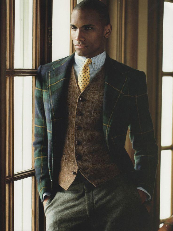 Blanket plaid jacket. More about suit patterns @ http://www.moderngentlemanmagazine.com/mens-suit-patterns/