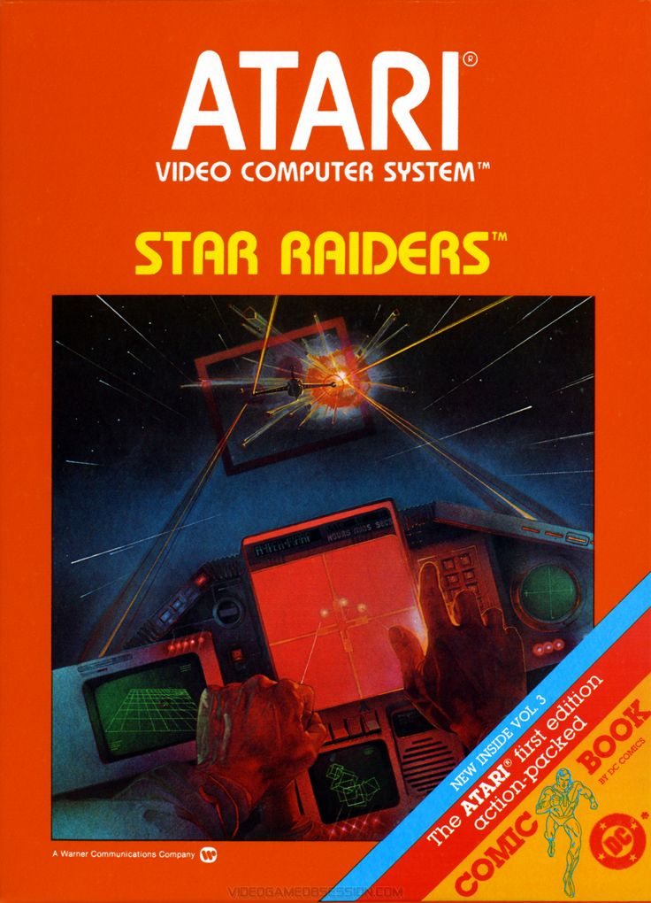 Star Raiders - Atari 2600 - came with a seperate key pad for controlling the game