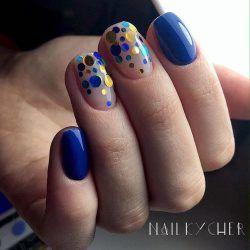 Bright blue nails ideas
