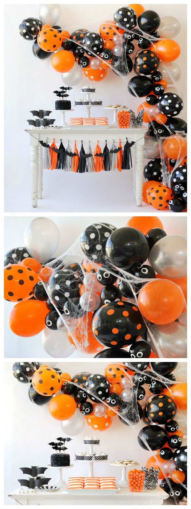 spooky halloween balloon garland halloween party decorations