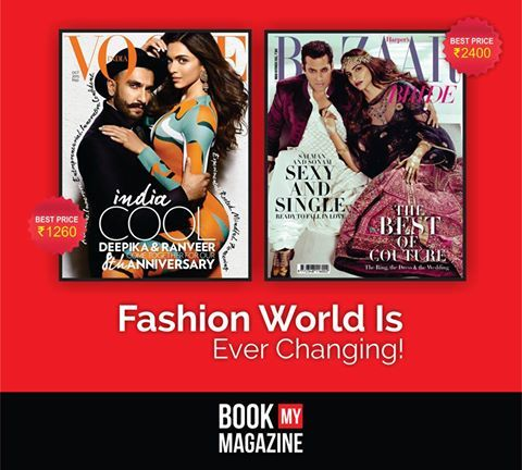 Stay on top of the fashion world by knowing all the latest trends. Subscribe to latest issues of fashion magazines like Vogue, Harper Bazaar and more at amazing discounts only at www.bookmymagazine.com! #BookMyMagazine #Fashion #LatestTrends #SubscribeNow