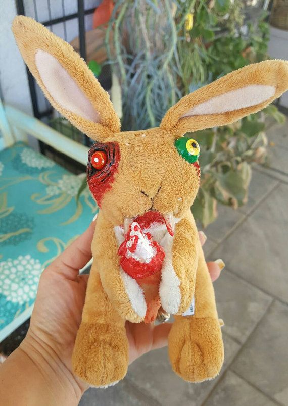 Guess How Much I Love You Zombie Bunny Plush by SpikesCuriousWorld