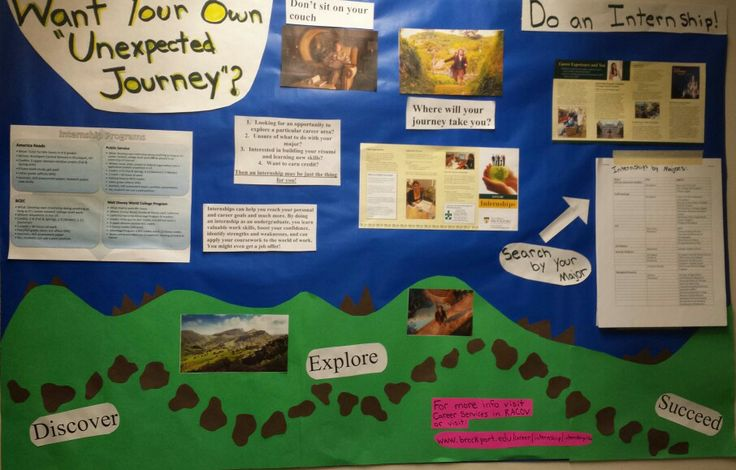Want your own unexpected journey? Res life Bulletin board for finding an internship!  Using a Hobbit theme! #RA #Reslife