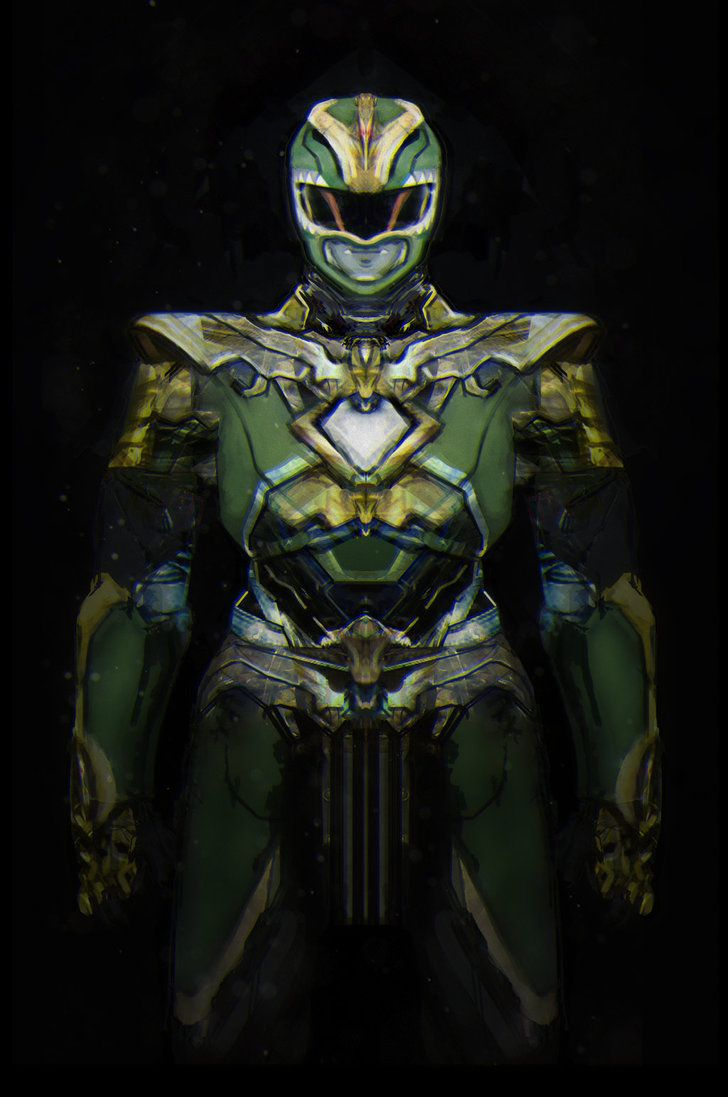 Took a stab at the green ranger, trying to give him actual armor instead of tights.
